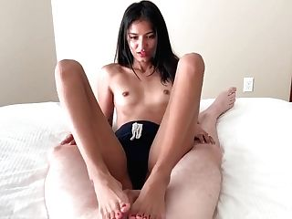 Little Asian Tart Very First Time Interracial Sexy Footjob